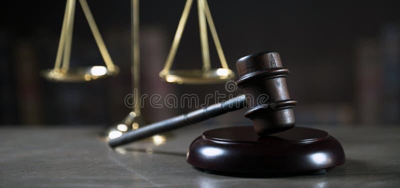 Mallet van de rechter Het strafrecht stock foto's