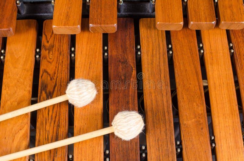 Mallets on marimba stock photography