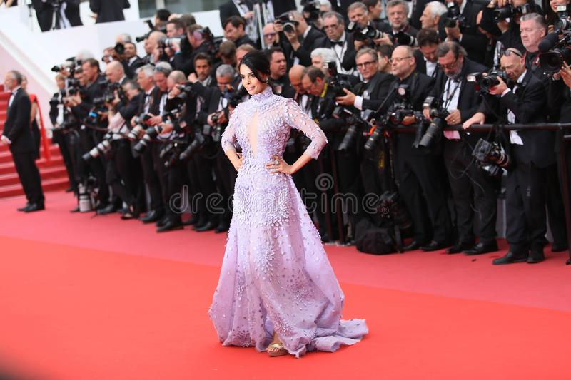 Mallika Sherawat attends the screening of `Sorry Angel`. During the 71st annual Cannes Film Festival at Palais des Festivals on May 10, 2018 in Cannes, France royalty free stock photos
