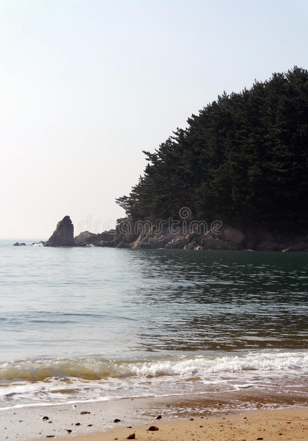 Download Mallipo Beach, South Korea stock image. Image of landscape - 24643303