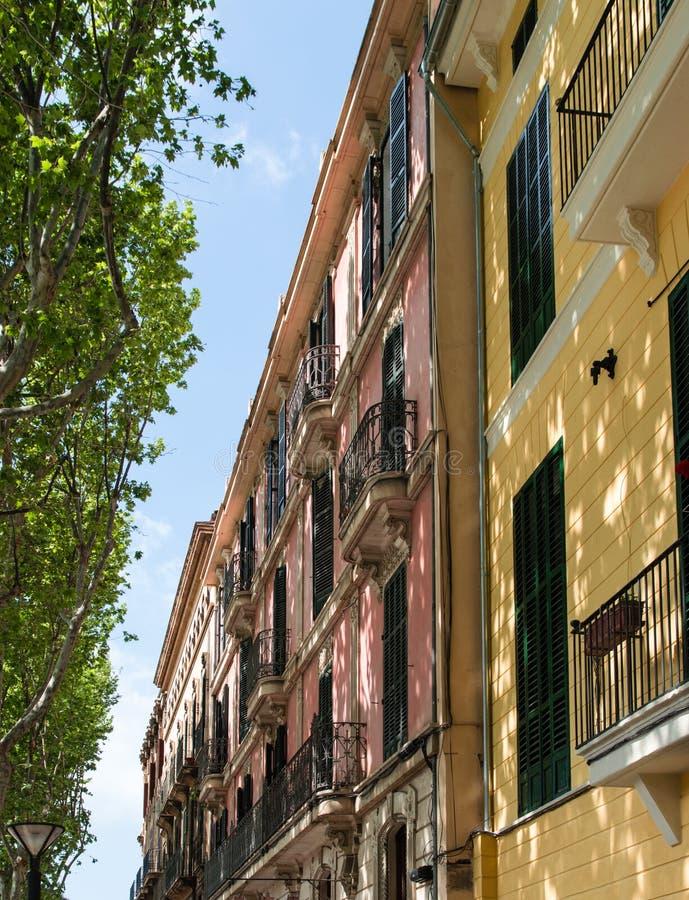 Apartment Balcony In Mallorca, Spain Stock Image - Image ...