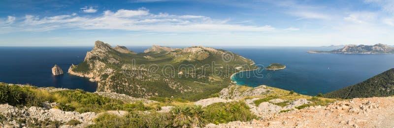 Mallorca, bedecken das Formentor mit einer Kappe stockbild