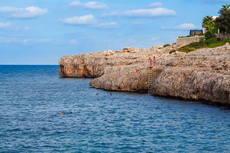 Mallorca falez Skakać obraz royalty free