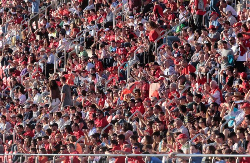 Mallorca-Fußballteam-Anhängerstadion lizenzfreie stockbilder