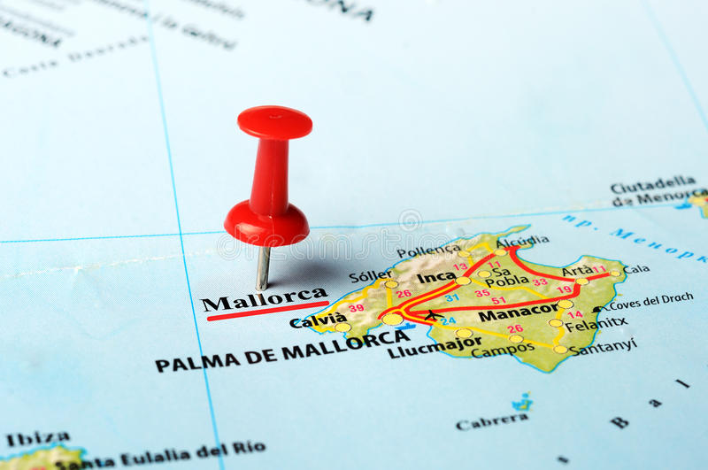Mallorca Island Spain Map Stock Photo Image of romantic palma