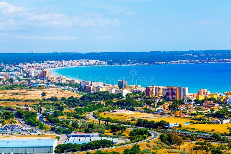 Mallorca, kan picafort royalty-vrije stock afbeelding