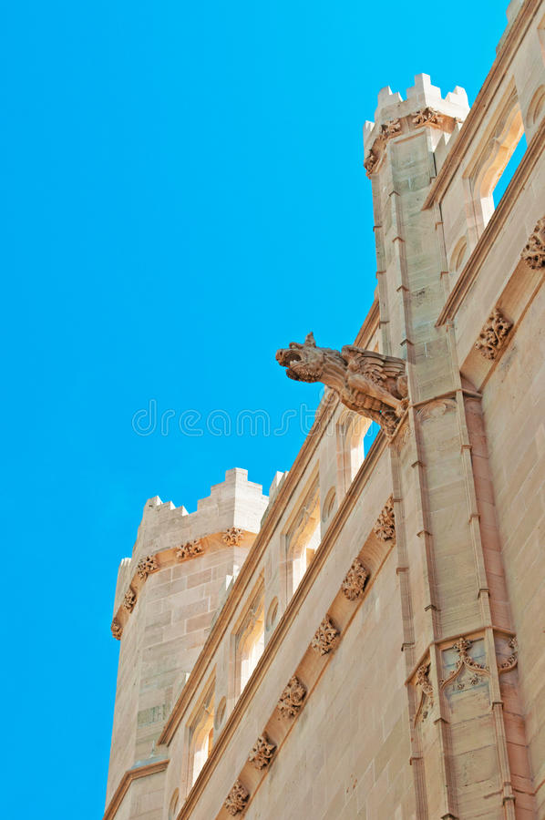 Palma, Mallorca, Majorca, Balearic Islands, Spain, gargoyle, La Seu, cathedral, church, decoration royalty free stock photography