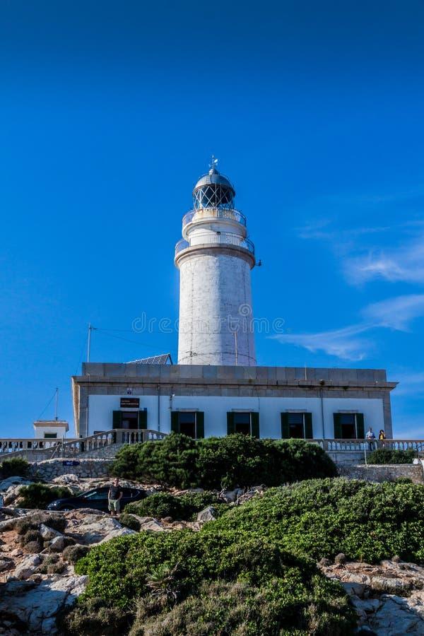 Mallorca nakr?tki De Formentor latarnia morska obraz stock