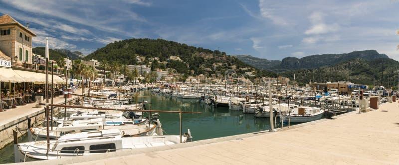 Mallorca Port solleren arkivbild