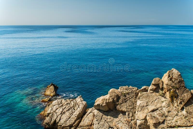 Mallorca skalisty wybrzeże zdjęcie royalty free