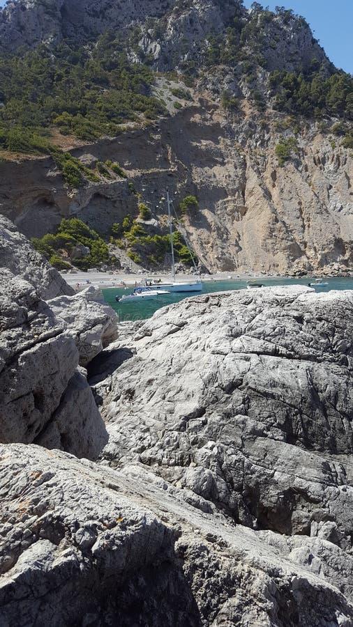 Mallorca strand i natur royaltyfria foton