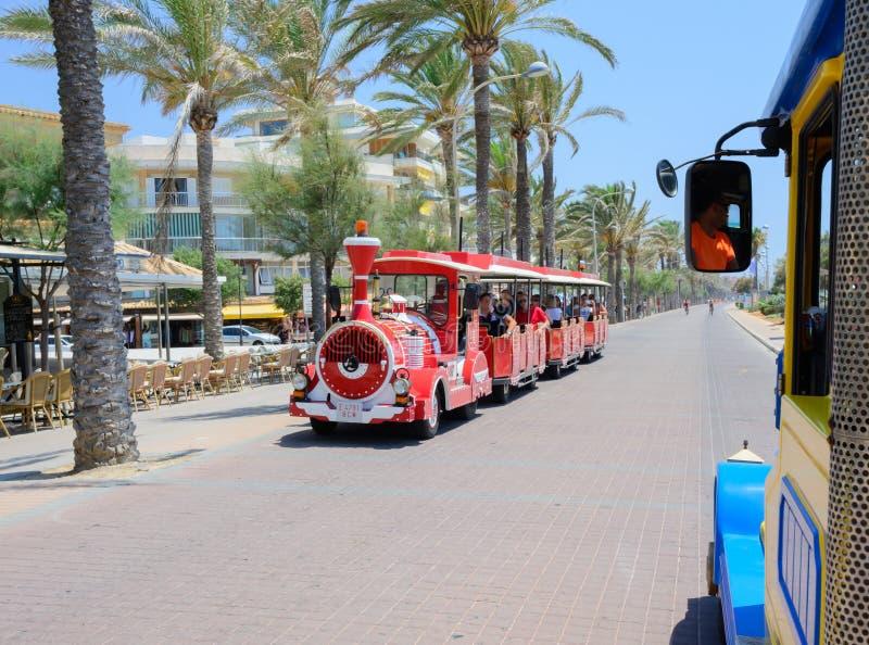 Mallorca turysty pociąg zdjęcie stock