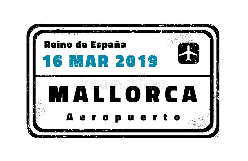 Mallorca vector stamp royalty free illustration