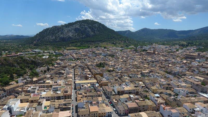Mallorca von der Luft stockbilder