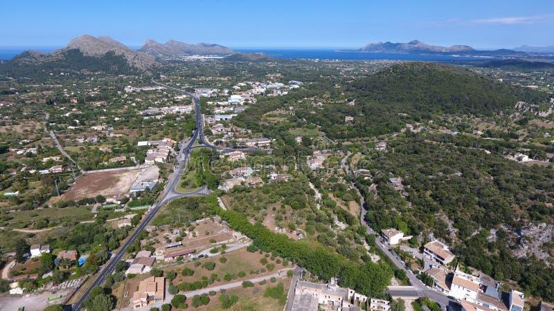 Mallorca von der Luft stockfotografie