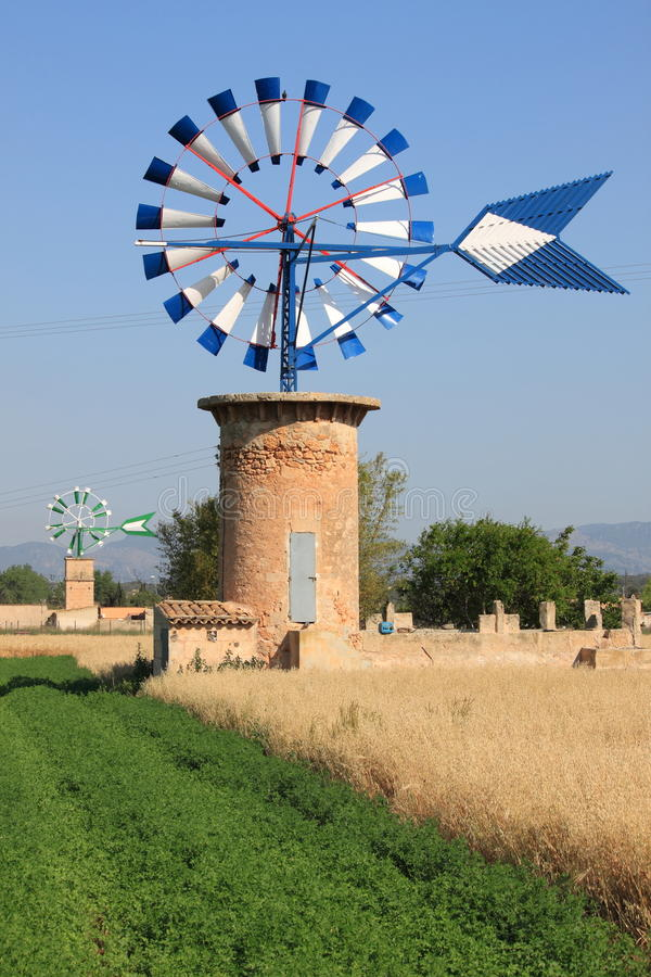 Mallorca windmill royalty free stock image