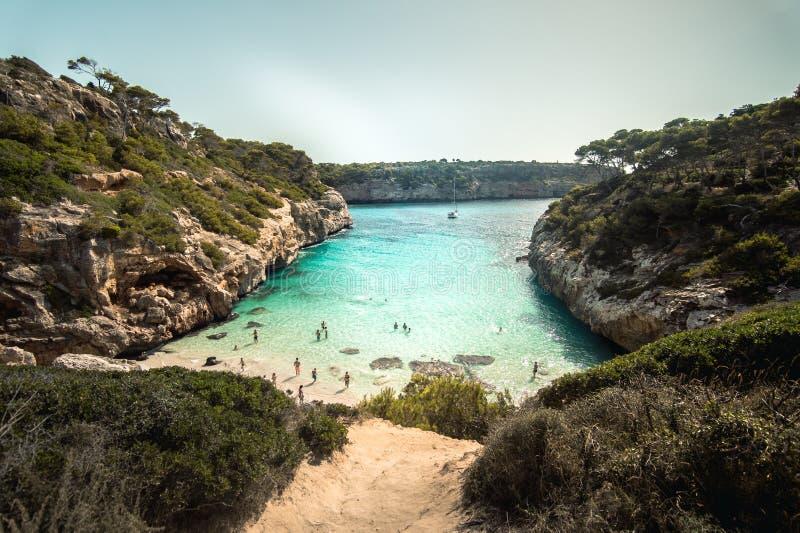 Mallorca wyspa jest wielkie Balearic wyspy zdjęcia royalty free