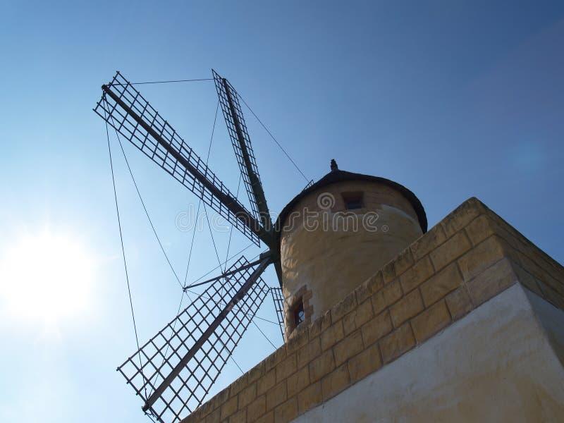 mallorcan windmill arkivfoton
