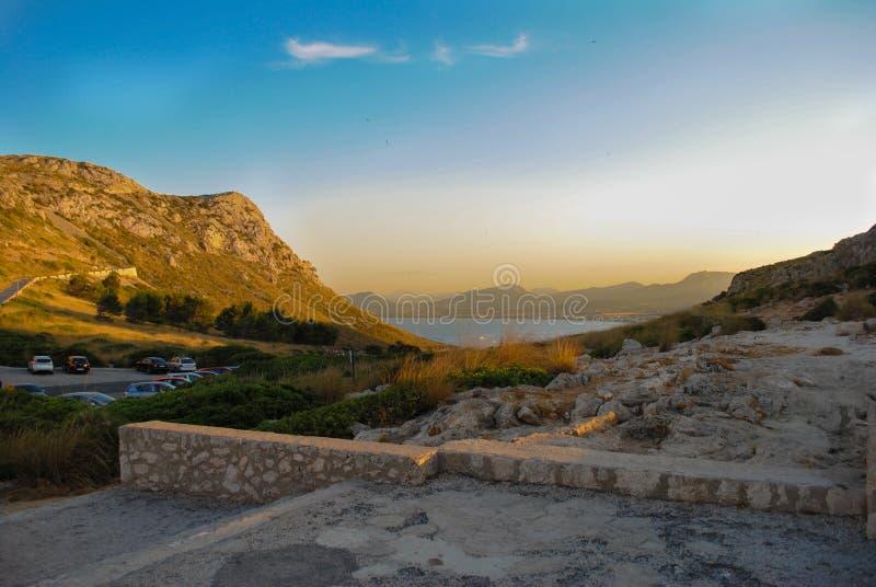 Mallorcanzonsondergang stock fotografie