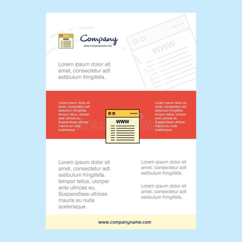 Mallorientering för Websiteföretagsprofilen, årsrapport, presentationer, broschyr, broschyrvektorbakgrund stock illustrationer