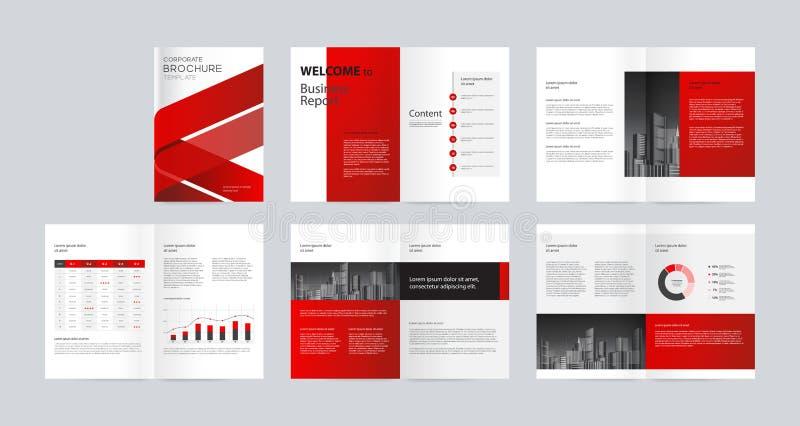 Mallorienteringsdesign med räkningssidan för design för företagspTemplateorientering med räkningssidan för företagsprofilen, årsr royaltyfri illustrationer