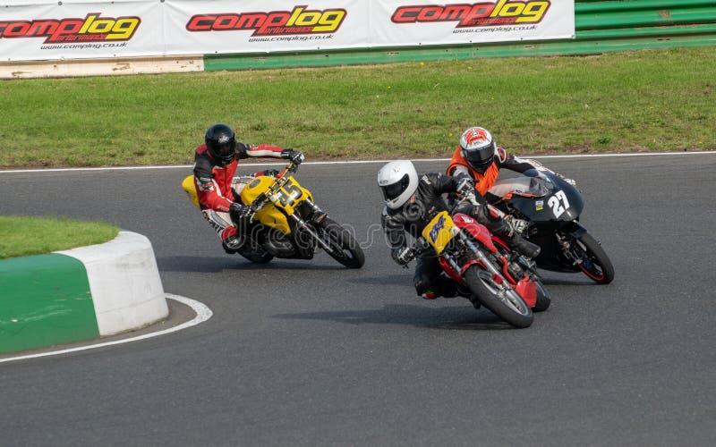 Mallory Park Motorcycle Racing arkivfoton