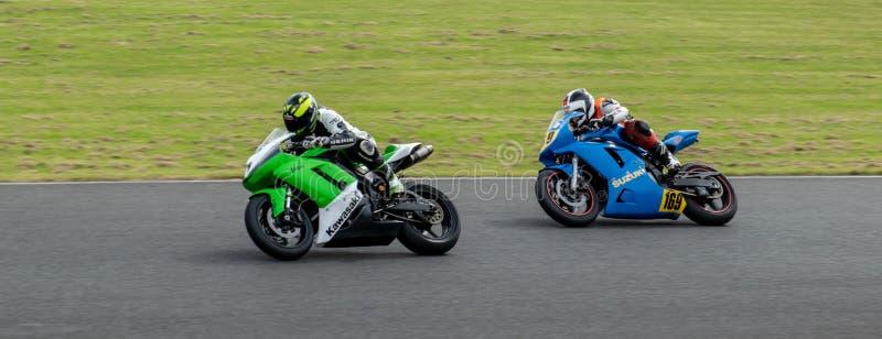 Mallory Park Motorcycle Racing royaltyfri bild