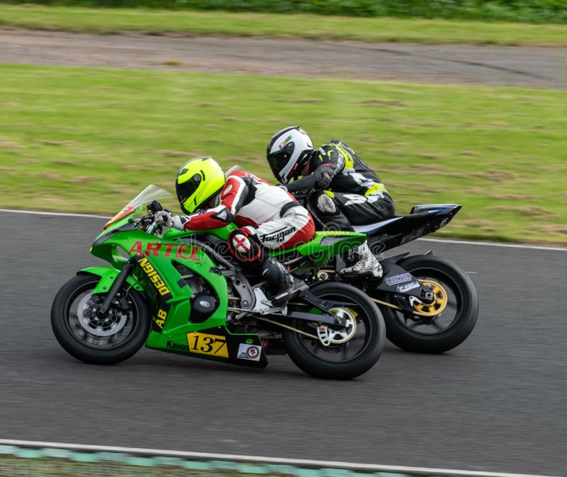 Mallory Park Motorcycle Racing stock image