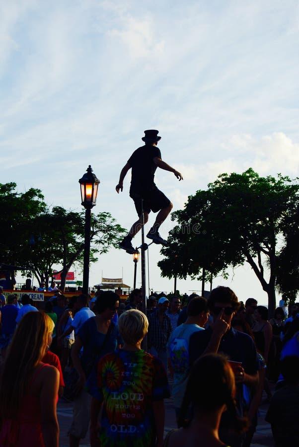 Mallory Square, Key West, Florida, EUA fotos de stock