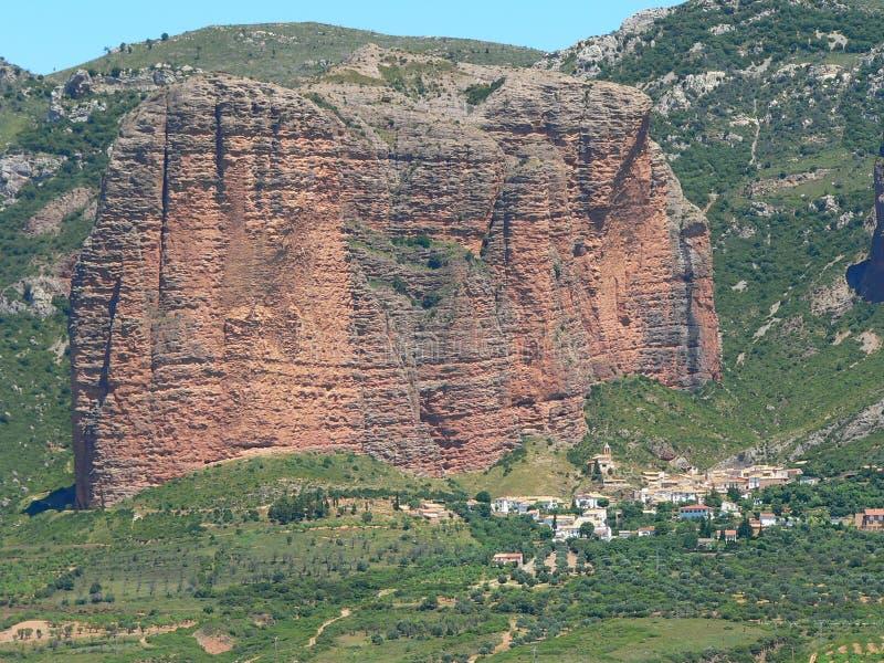 Mallos DE Riglos, Huesca (Spanje) royalty-vrije stock foto
