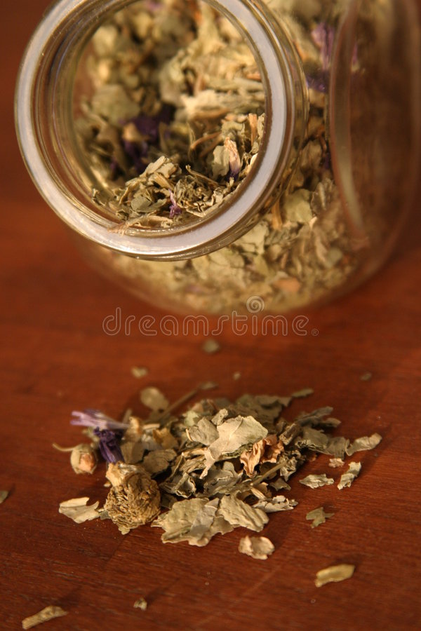 Mallow. Herb tea on wooden support royalty free stock photography