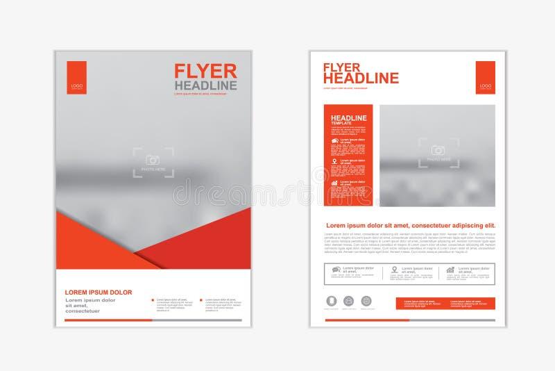 Mallpresentation för årsrapporten, reklamblad, broschyr, broschyr, företags rapport som annonserar för designeps för 10 bakgrund  stock illustrationer