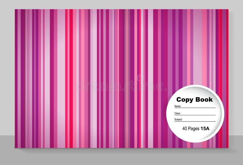 Mallräkning av en förskriftsbok med en individuell design: rosa färger vektor illustrationer