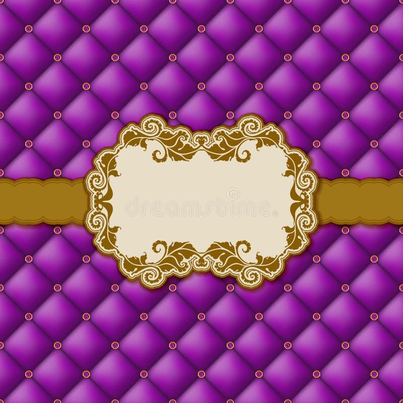 Mallramdesign för hälsningkort. royaltyfri bild