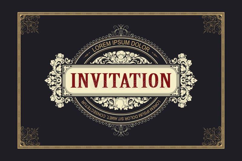 Mallreklamblad, inbjudningar eller hälsningkort royaltyfri illustrationer
