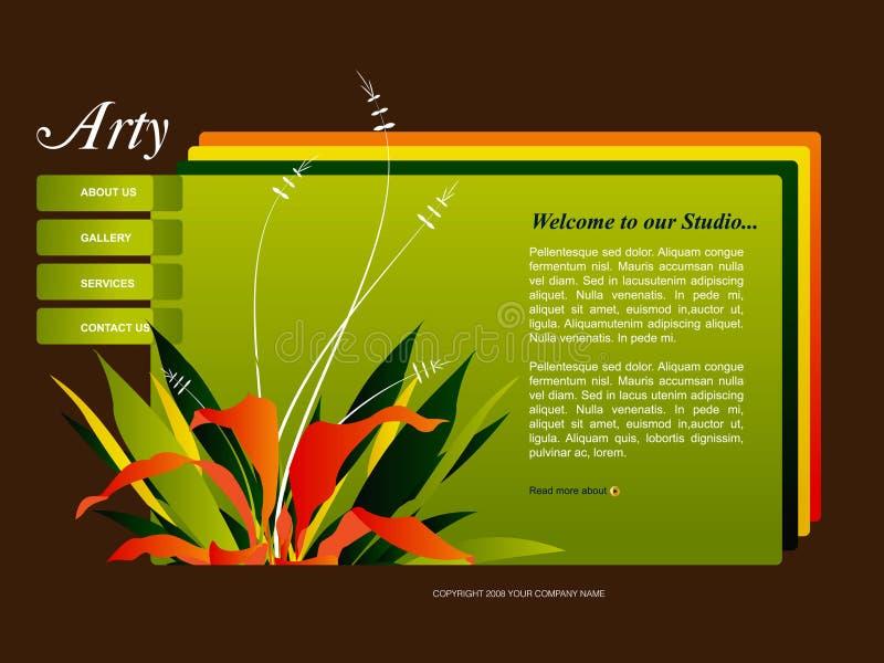 mallwebsite vektor illustrationer