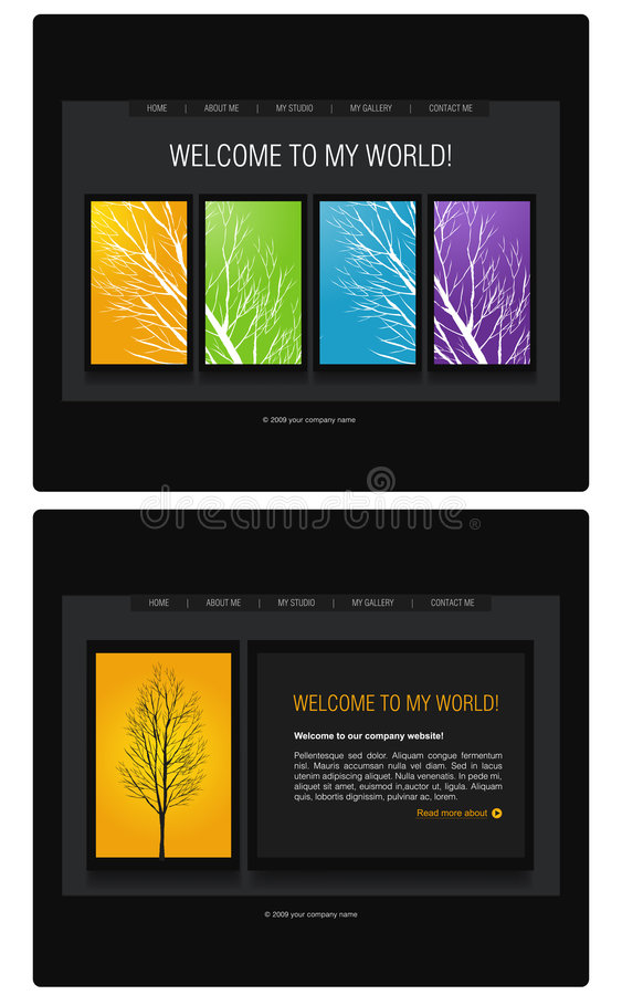 mallwebsite royaltyfri illustrationer