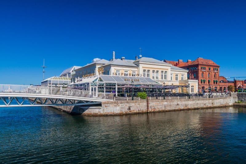 MALMÖ, SUECIA - 27 DE AGOSTO DE 2016: Paisaje urbano de Malmö, Swed fotos de archivo libres de regalías
