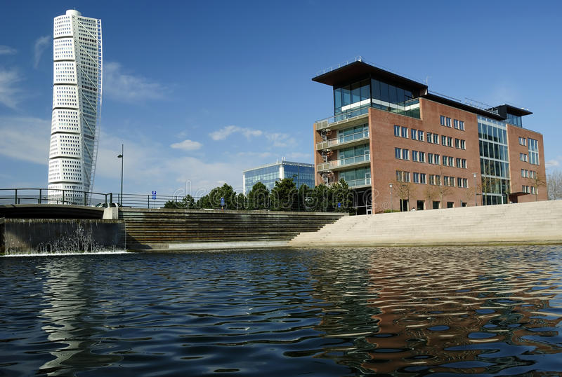 Malmo city's modern buildings royalty free stock images