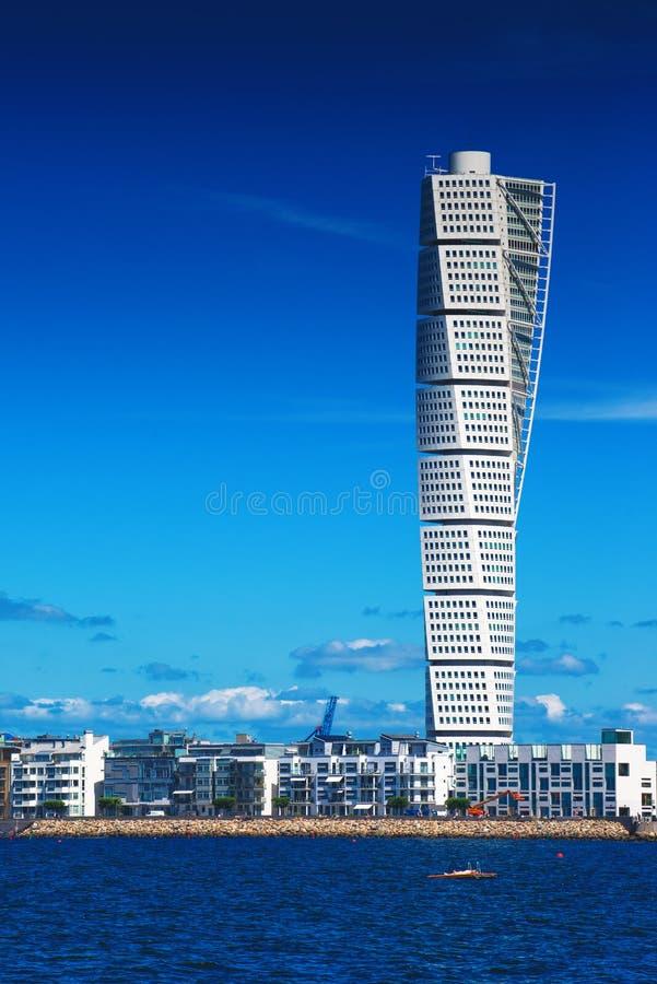 Malmo Cityscape met het Draaien van Torso royalty-vrije stock fotografie