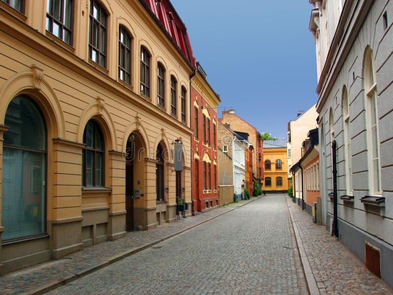 Download Malmo gata sweden fotografering för bildbyråer. Bild av town - 3547437