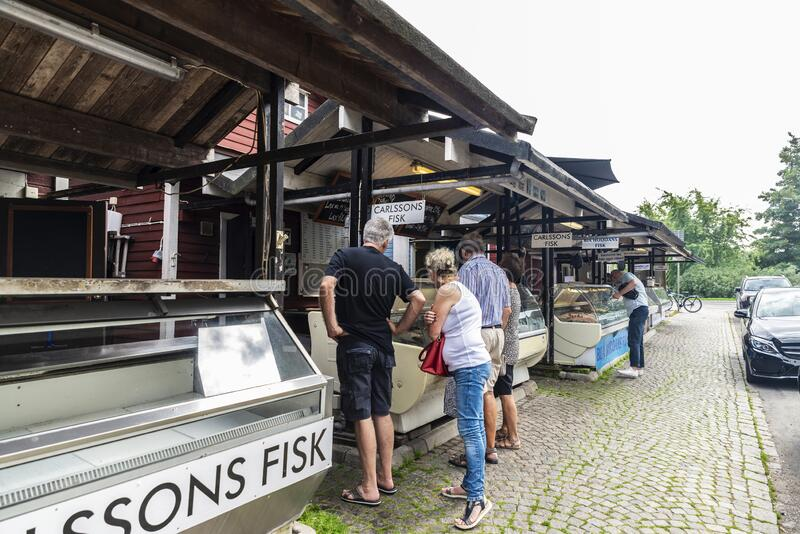 Fiskehoddorna, traditional fish market in Malmo, Sweden royalty free stock image