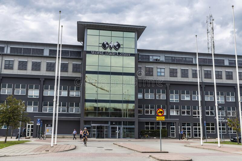 Office building called World Trade Center in Malmo, Sweden stock photos