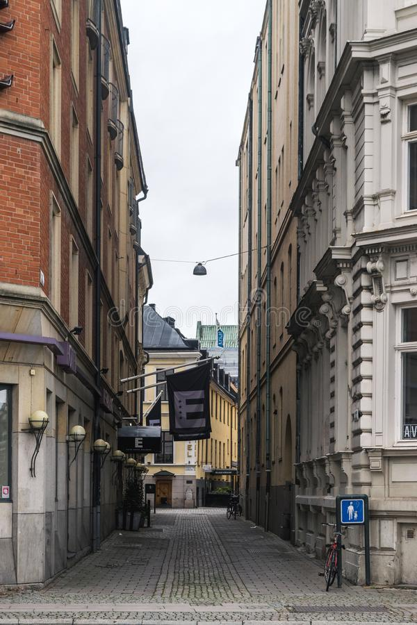 MALMO, SWEDEN - 22 OCTOBER 2016: Different types of architectural structures in the center of Malmo, Sweden stock images