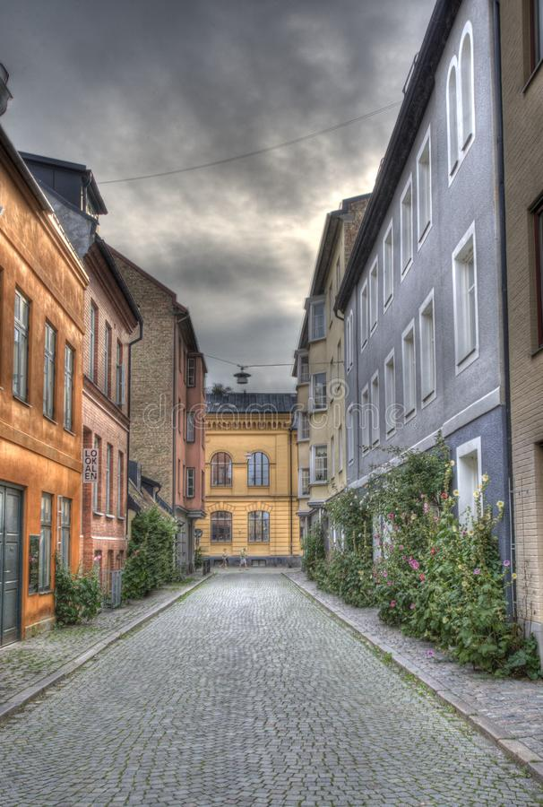 Malmoe i stary miasto, stary zachód w południe Szwecja obraz royalty free