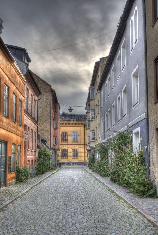 Malmoe und die alte Stadt, alter Westen im Süden von Schweden lizenzfreies stockbild