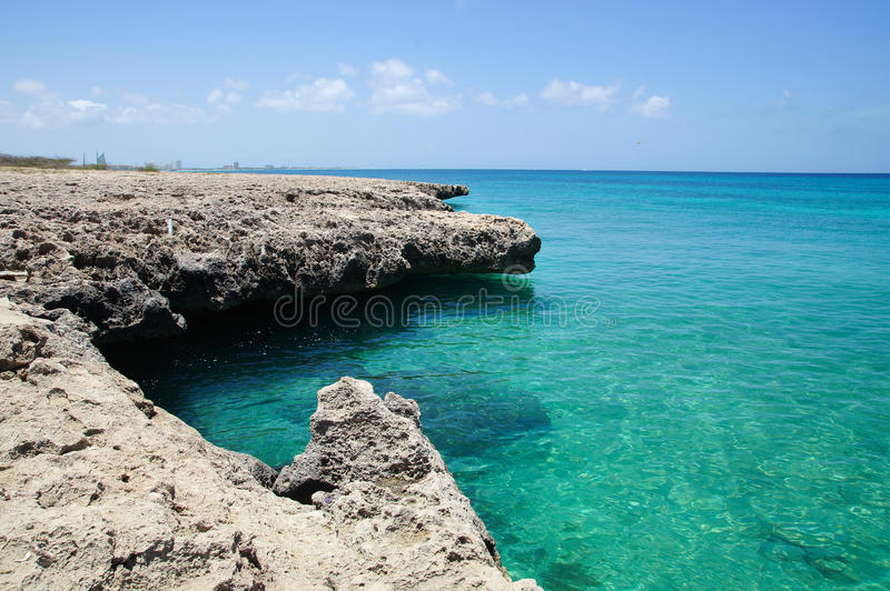 Malmokstrand - Aruba stock afbeelding