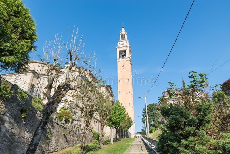Malnate, провинция Варезе, Италии Церковь Сан Martino стоковое изображение