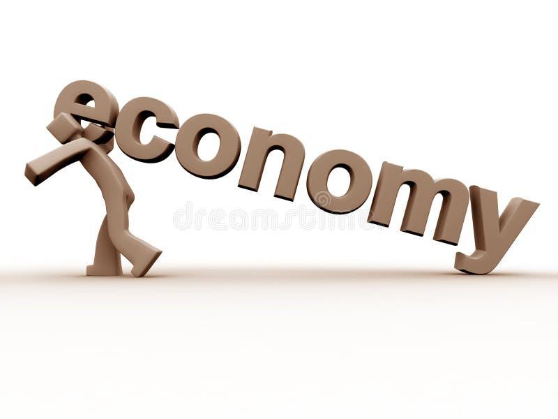 Malo de la economía stock de ilustración