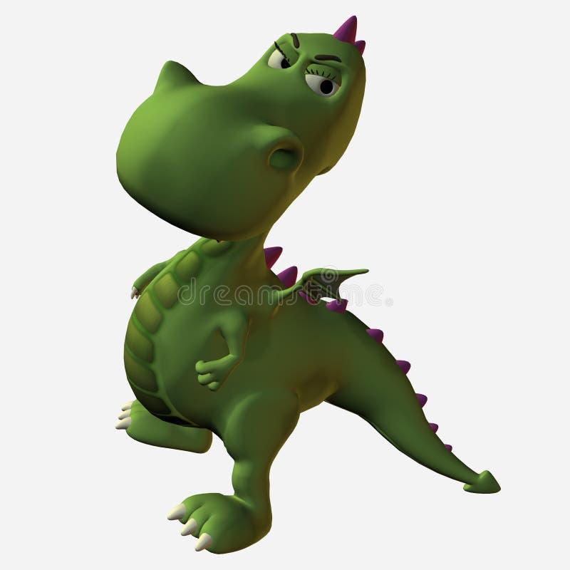 Malo del dragón de Toonimal ilustración del vector